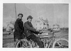 Riding a motorized bicycle