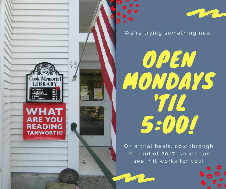 open Mondays until 5