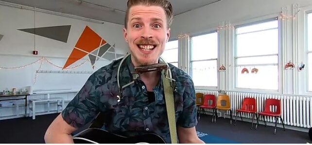 Mr. Aaron outdoor music for kids Sept. 11
