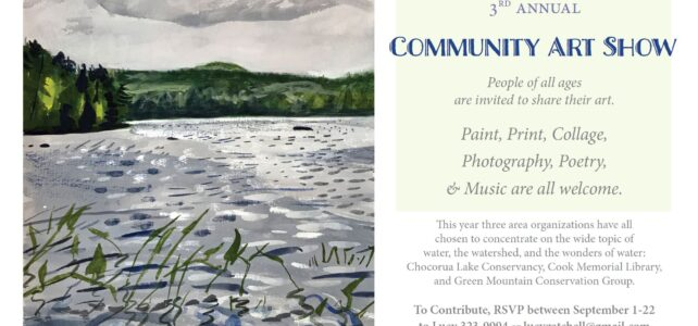 Invitation to participate in community art show this fall