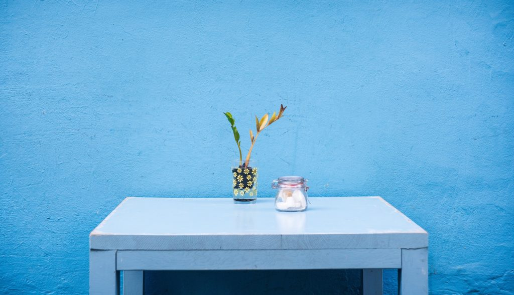 uncluttered table