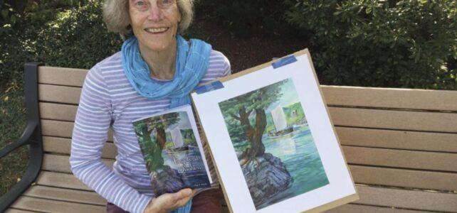 Local author Olga Morrill on Zoom on June 15