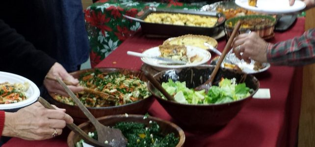 Changed to 12/19 – Holiday Open House and Potluck