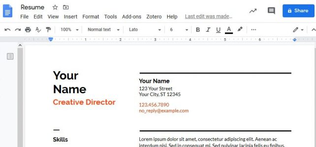 Tech Tuesday: Create a resume with Google Docs